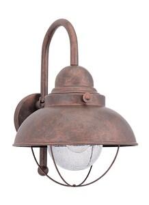 Seagull Lighting Sebring 1-Light Medium Lantern in Weathered Copper GL887144