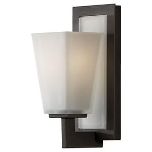 Feiss Clayton 100W 1-Light Wall Mount Medium E-26 Base Bath Light in Oil Rubbed Bronze GLVS16601ORB
