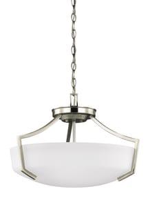 Seagull Lighting Hanford 100W 3-Light Pendant in Brushed Nickel GL7724503962