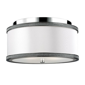 Feiss Pave 6-1/2 x 13 in. Ceiling Light Fixture in Polished Nickel GLFM442PN