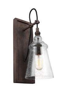 Generation Brands Loras 75W 1-Light Medium E-26 Incandescent Wall Sconce in Dark Weathered Iron GLWB1850DWI