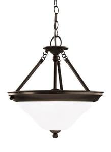 Generation Lighting Sussex 16-3/4 in. 75 W 3-Light Medium Pendant in Heirloom Bronze GL66062782