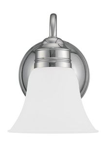 Generation Lighting Gladstone 1-Light Wall Sconce in Polished Chrome GL4485005