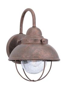 Seagull Lighting Sebring 8 in. 100 W 1-Light Medium Lantern in Weathered Copper GL887044