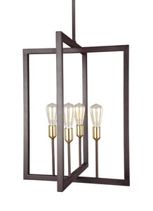Generation Brands Finnegan 60W 4-Light Medium E-26 Incandescent Chandelier in New World Bronze GLF31464NWB