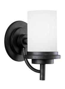Seagull Lighting Winnetka 9.3W 1-Light Medium E-26 LED Vanity Fixture in Blacksmith GL44660EN3839