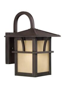 Seagull Lighting Medford Lakes 11 in. 100 W 1-Light Medium Lantern in Statuary Bronze GL8888051