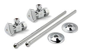 McGuire Manufacturing Convertible™ Sink 1/2 in x 3/8 in. x 2-1/2 in. Supply Kit in Chrome Plated MLFBV2165CCR15