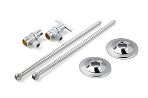 McGuire Manufacturing Sink 1/2 in x 3/8 in. x 2-1/4 in. Supply Kit in Chrome Plated MLF175LK