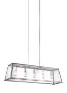 Feiss Harrow 67-3/4 in. 5-Light Medium E-26 Base Chandelier in Polished Nickel GLF30735PN