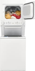Frigidaire 3.9 cf Electric Washer and Dryer Combo in White FFFLE3900UW