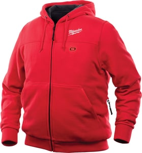Milwaukee M12™ L Size 12V Polyester Heated Hoodie in Red M302R21L