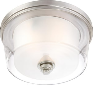 Nuvo Lighting Decker 60W 3-Light Flushmount Ceiling Fixture in Brushed Nickel N604652