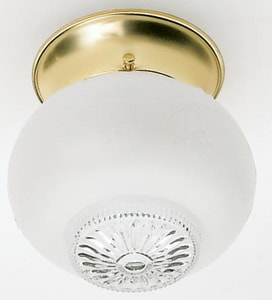 Nuvo Lighting 5 in. 1-Light Flushmount Ceiling Light in Polished Brass with Clear Hobil Squat Ball Glass Shade NUV77122