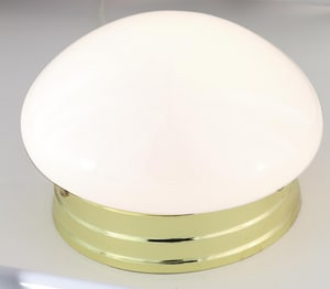 Nuvo Lighting 8 in. 1-Light Mushroom Fixture in Polished Brass N77059