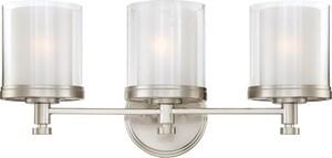 Nuvo Lighting Decker 100W 3-Light Medium Base Bracket in Brushed Nickel N604643
