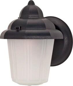 Nuvo Lighting 60 W 1-Light Medium Lantern in Textured Black N60641