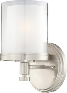 Nuvo Lighting Decker 100W 1-Light Vanity Light Fixture in Brushed Nickel N604641