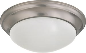 Nuvo Lighting 24W 1-Light LED Ceiling Light in Brushed Nickel N62788