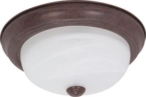 Nuvo Lighting 2 Light 60W 11 in. Flush Mount Ceiling Fixture Old Bronze N60205