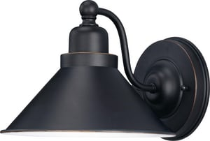 Nuvo Lighting Bridgeview 1 Light 100W Wall Sconce with Metal Shade Mission Dust Bronze N601709
