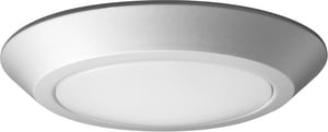 Nuvo Lighting Signature 7-9/10 in. 10.5W 1-Light Medium E-26 LED Flush Mount Ceiling Fixture in White N621162