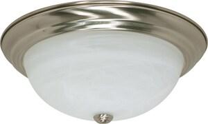 Nuvo Lighting 3 Light 60W Flush Mount Ceiling Fixture Bright Nickel N60199