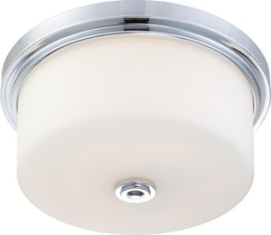 Nuvo Lighting Soho 60W 3-Light Flushmount Ceiling Fixture in Polished Chrome N604592