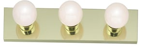 Nuvo Lighting 3-Light 100W Bathroom Vanity Light in Polished Brass N77188