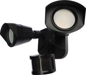 Nuvo Lighting 20W 2-Light LED Dual Head Security Light in Black N65215