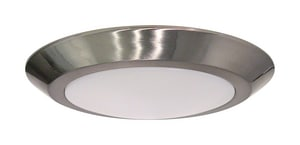 Nuvo Lighting Signature 9-21/25 in. 12W 1-Light Medium E-26 LED Flush Mount Ceiling Fixture in Brushed Nickel N621166
