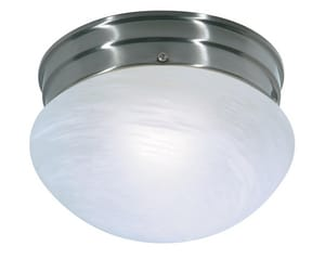 Nuvo Lighting 60W 1-Light Medium Base Flush Mount Ceiling Light in Brushed Nickel N76671