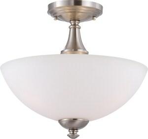 Nuvo Lighting Patton 11 in. 60W 3-Light Semi-Flush Mount Ceiling Fixture in Prairie Bronze N605044