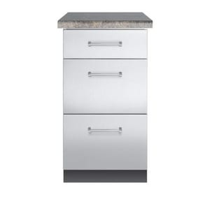Viking Range 18 in. 3-Drawer Base Cabinet in Stainless Steel VVBO1830SS