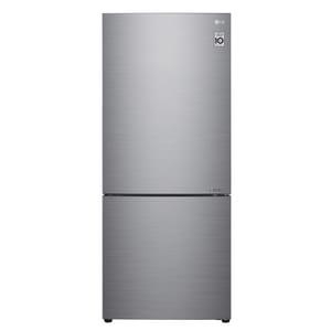 LG Electronics 27-3/8 in. 14.7 cf Freestanding Bottom Mount Refrigerator in Platinum Silver with Grey LGLBNC15231V