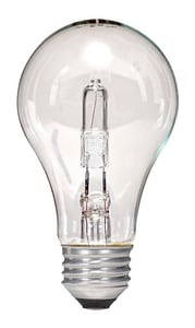 Satco 72W A19 Dimmable Halogen Light Bulb with Medium Base SS2404