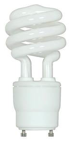 Satco 15W T3 Coil Compact Fluorescent Light Bulb with GU24 Base SS8204