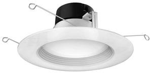 Satco Signature 10.5W 1-Light LED Retrofit Downlight in White SS29726