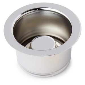 Signature Hardware 4-1/2 in. Garbage Disposer Flange and Stopper in Polished Chrome SH205582
