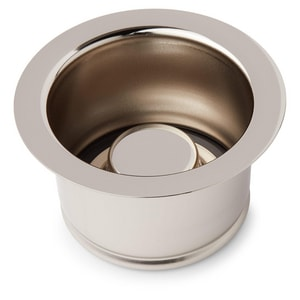 Signature Hardware Deep 4-1/2 in. Disposer Flange and Stopper in Polished Nickel SH205584