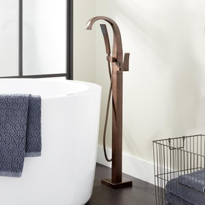 Signature Hardware Vilamonte 1.8 gpm Floor Mount Tub Filler Faucet with Single Lever Handle in Oil Rubbed Bronze SHVLFS2000GORB