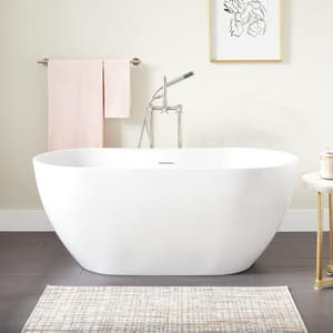Signature Hardware Hibiscus 59 x 29-1/2 in. Freestanding Bathtub in White SHHBFSO5930WH