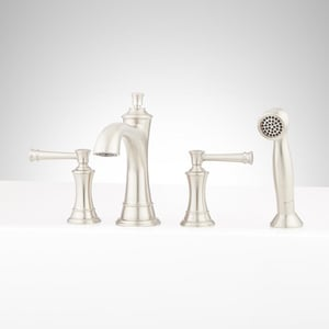 Signature Hardware Atria Two Handle Roman Tub Faucet in Brushed Nickel Trim Only SHBE4RTGBN