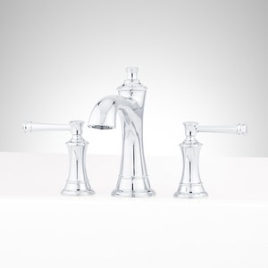 Signature Hardware Atria Two Handle Roman Tub Faucet in Polished Chrome Trim Only SHBE4RTGCP