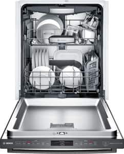 Bosch 800 Series 23-9/16 in. 12A 42dB 6-cycle Undercounter and Built-in Dishwasher in Black Stainless BSHXM78W54N