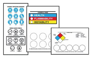 Accuform Signs 5 x 7 in. Right to Know Color Bar Labeling Kit ALZS642 at Pollardwater