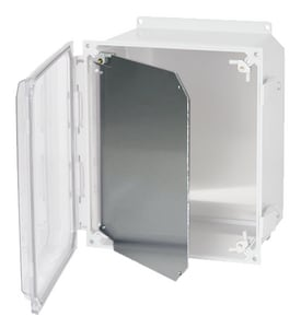 Conery Manufacturing 8 x 8 in. Aluminum Dead Front with Hinge and Kit CADF0808BPA004