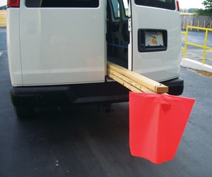 Accuform Signs 18 x 18 in. Heavy Duty Mesh Tailgate Warning Flag AFSG204 at Pollardwater