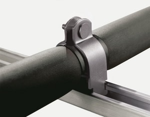 FNW® Klo-Shure® 1/2 x 1/2 in. OD Tube Carbon Steel and Thermoplastic Olefin Strut Pipe Clamp FNW7897SSD0050