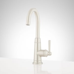 Signature Hardware Hartfield™ Single Lever Handle Bar Faucet in Stainless Steel SHXCHA103SS